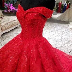 Image 2 - AIJINGYU Hochzeit Empfang Kleid Fett Größe Sexy Designer Dubai Strass Perle Kleid Bodenlangen Braut Tragen Kleider