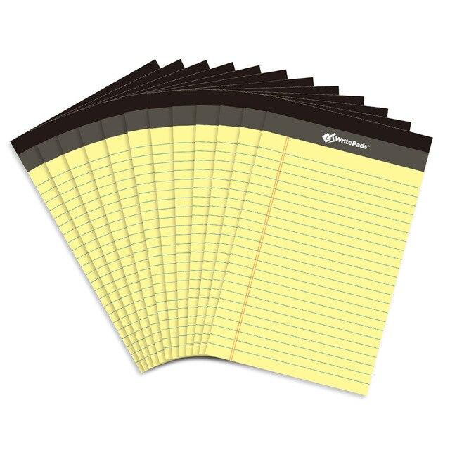 Memo Pad USA style Legal pad A5 12PCS*50 sheets Writing pad  Office School Supplies Notepad memo pads