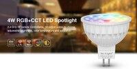 4ワットmiライトled電球mr16ランプライト調光対応ac/dc12v rgb +暖かい白+白(rgb + cct)スポットライト屋内ホリデーデコレーション