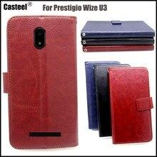 Casteel Classic Flight Series high quality PU skin leather case For Prestigio Wize U3 Case Cover Shield