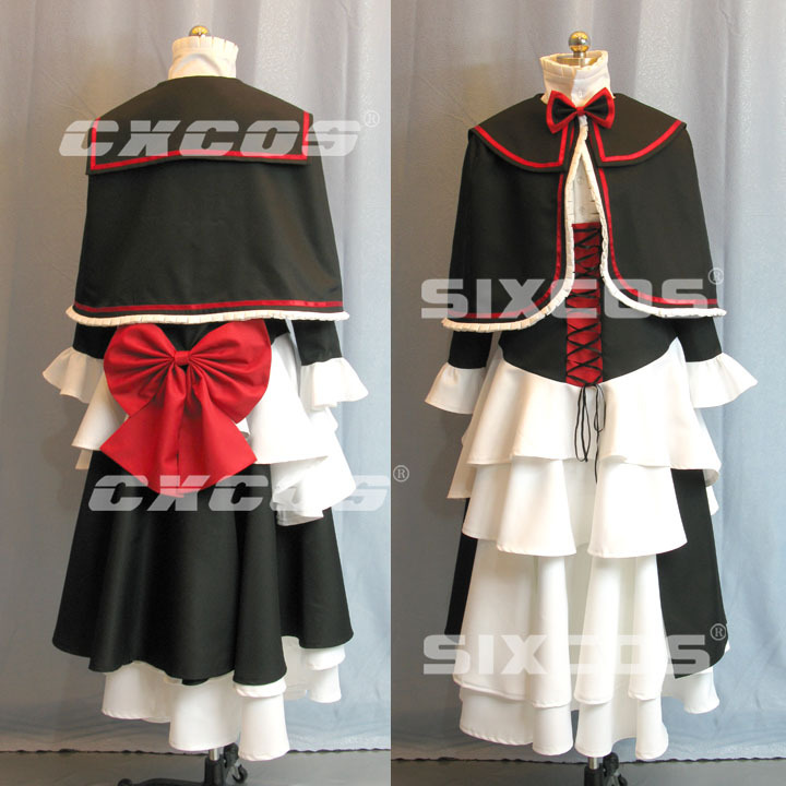 Hot Anime Coyote Ragtime Show April Cosplay Lolita Dress Cosplay Costume S-XL Free Shipping