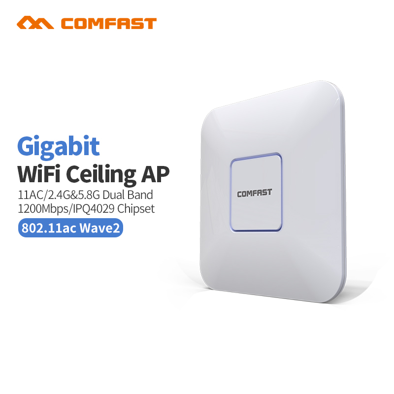 COMFAST CF-E370AC 1200M Dual Band Gigabit wireless indoor AP 5.8GHz Wi fi Access Point AC routers Wi fi Signal Booster Amplifier цена