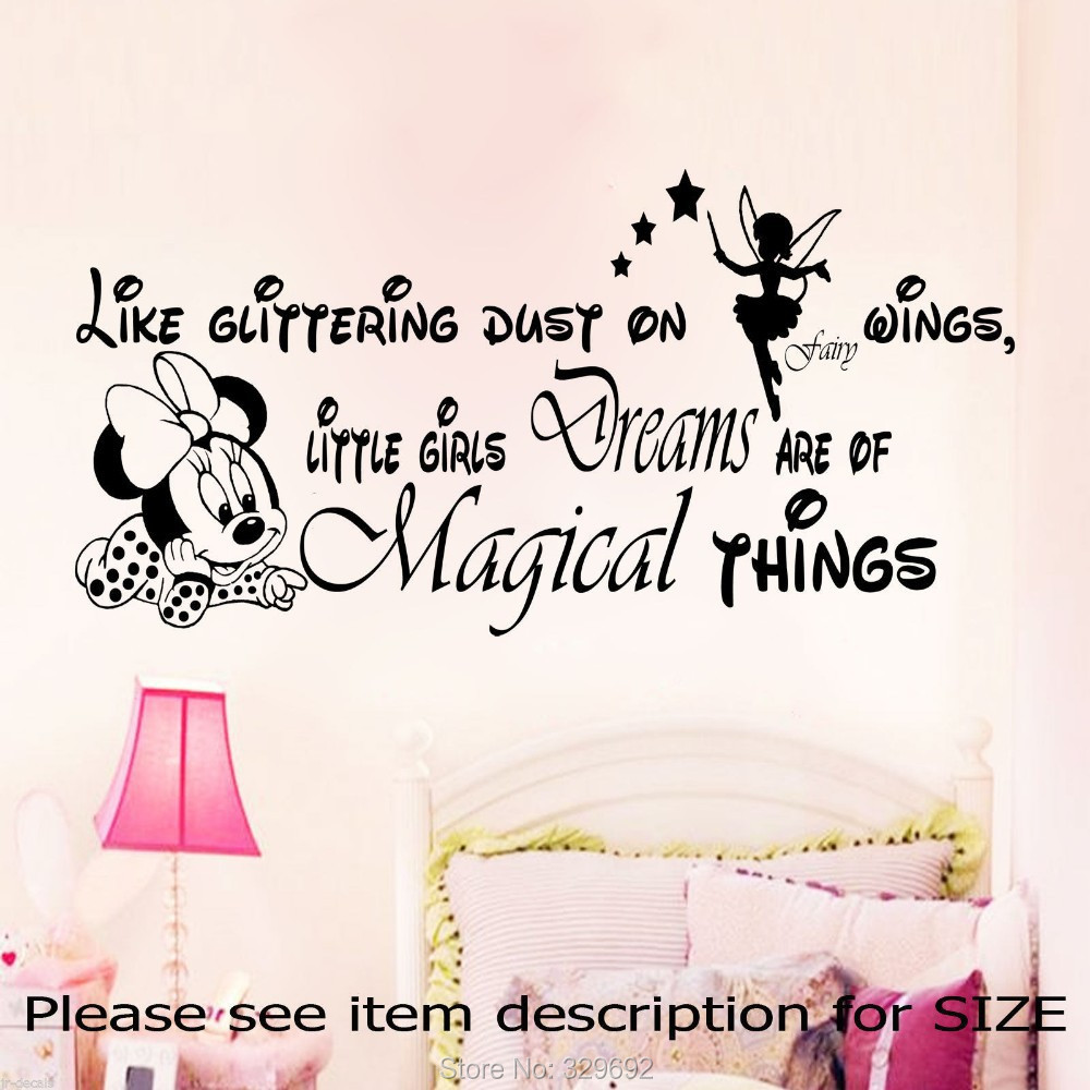 online get cheap creativity things aliexpress com alibaba group free shipping minnie mouse wall art sticker decal for kids room
