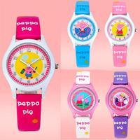 Peppa Pig Children Quartz Watch Fashion Pink Waterproof Student Kid Wristwatch 118970