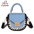 Персонализированные моды шить цвет дамы седло мешок случайные сумки сумки сумка crossbody сумка кошелек лоскут