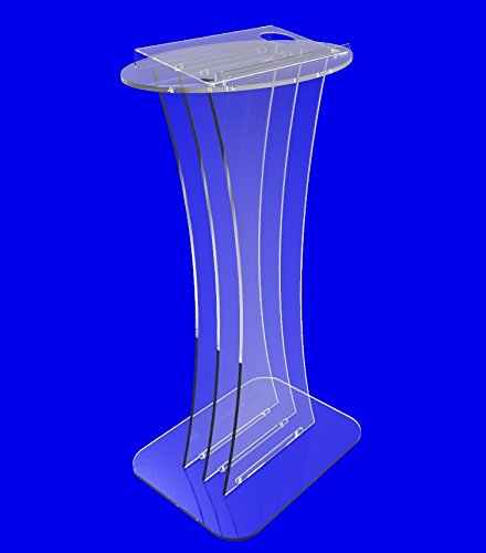 Fixture Displays Clear Crystal Acrylic Lucite Podium Pulpit Lectern