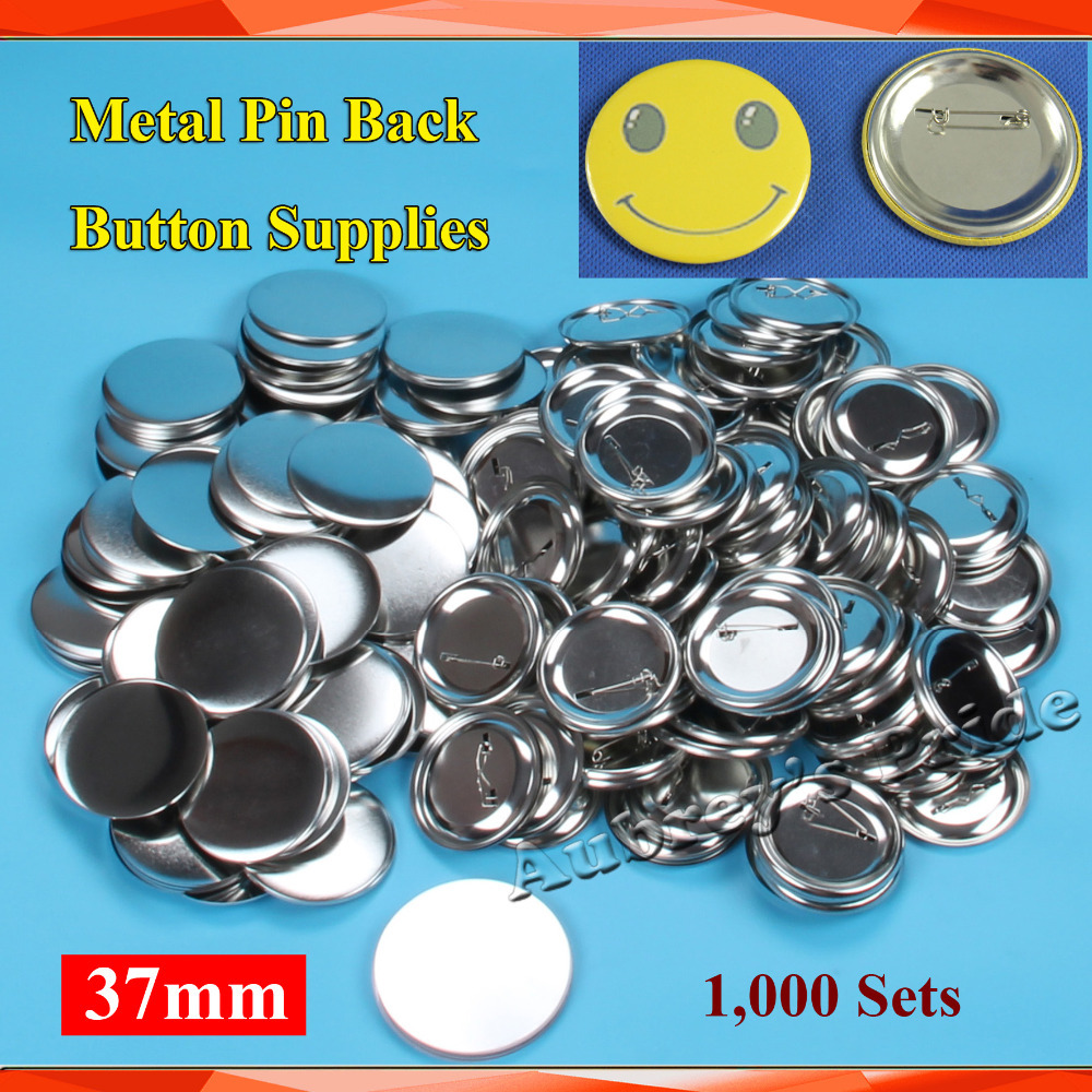 Home & Garden The Cheapest Price 1-1/2 37mm 1,000 Sets New Professional All Steel Badge Button Maker Pin Back Metal Pinback Button Supply Materials Smoothing Circulation And Stopping Pains