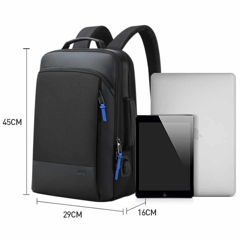 BOPAI 2019 תרמיל גברים להגדיל אנטי גניבה עסקי תרמיל עבור 15.6 אינץ מחשב נייד שחור בחזרה חבילת בית ספר תרמיל