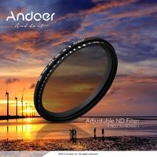Andoer 52-82 мм ND Фейдер нейтральной плотности Регулируемый ND2 к ND400 изменяемый фильтр фотографии для Canon Nikon DSLR камеры
