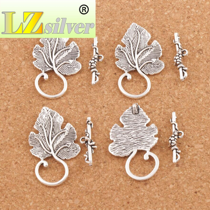Jewelry & Access. ... Jewelry Findings & Components ... 32718554651 ... 5 ... Grape Leaf Alloy Toggle Clasp Jewelry Findings Fit Bracelets L872 7sets Antique Silver/Bronze/Copper/Gold ...