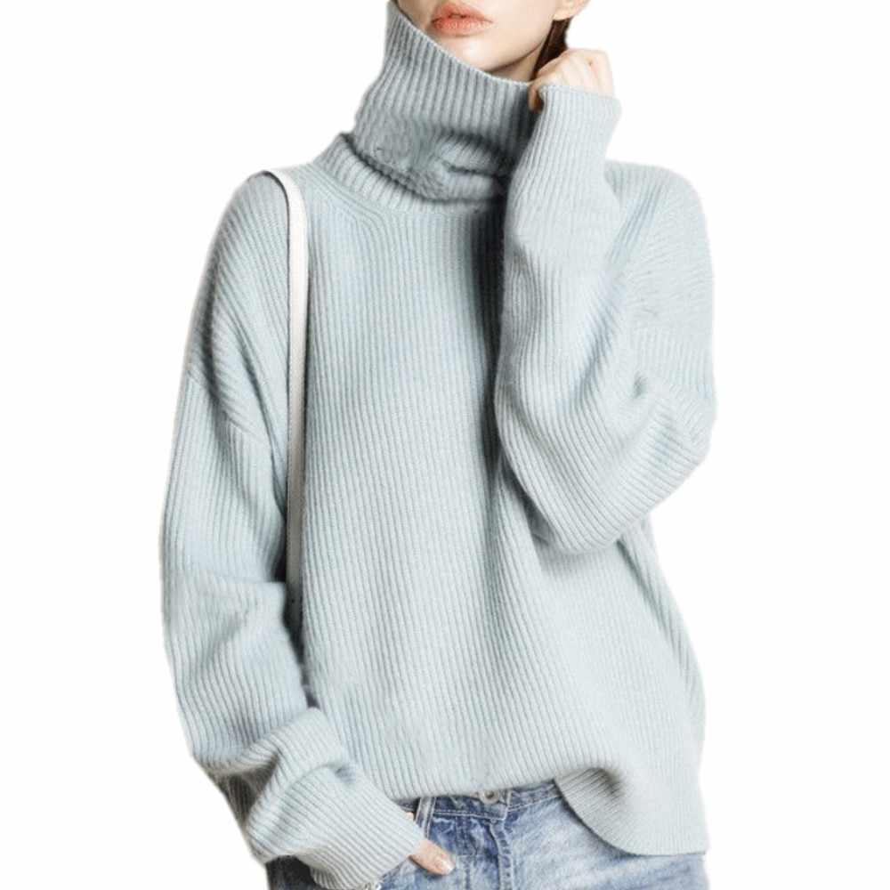חייט כבשים חורף גולף סוודר נשים loose ראש עבה קצר קשמיר סוודר נשי סוודר ענקי