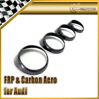 Car-styling For Audi 2011 A1 Carbon Fiber Air Con Vents Surround 4pcs