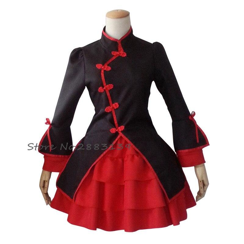 2017 Anime Nyaruko Lolita Apron Maid Dress women of Black and White skirts Cosplay Costumes D65