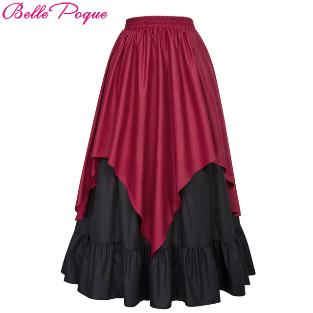 fc0334868b9 Women Long Victorian Maxi Skirts faldas mujer 2018 Womens High waist  Vintage Steampunk Renaissance Medieval Sexy Gothic Skirt