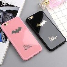 JAMULAR Karanlık Kinght Batman Telefon Kapak iphone X 6 6 s 7 Artı ayna Silikon Kılıf iphone 7 6 6 s 8 Artı Telefon Kılıfları Sh...