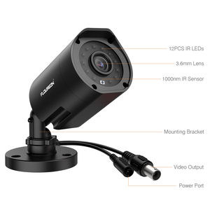 Image 4 - FLOUREON 1080P HD 3000TVL Outdoor Security System Camera 2MP 940nm Night Vision CCTV Surveillance PAL Bullet Camera for AHD DVR