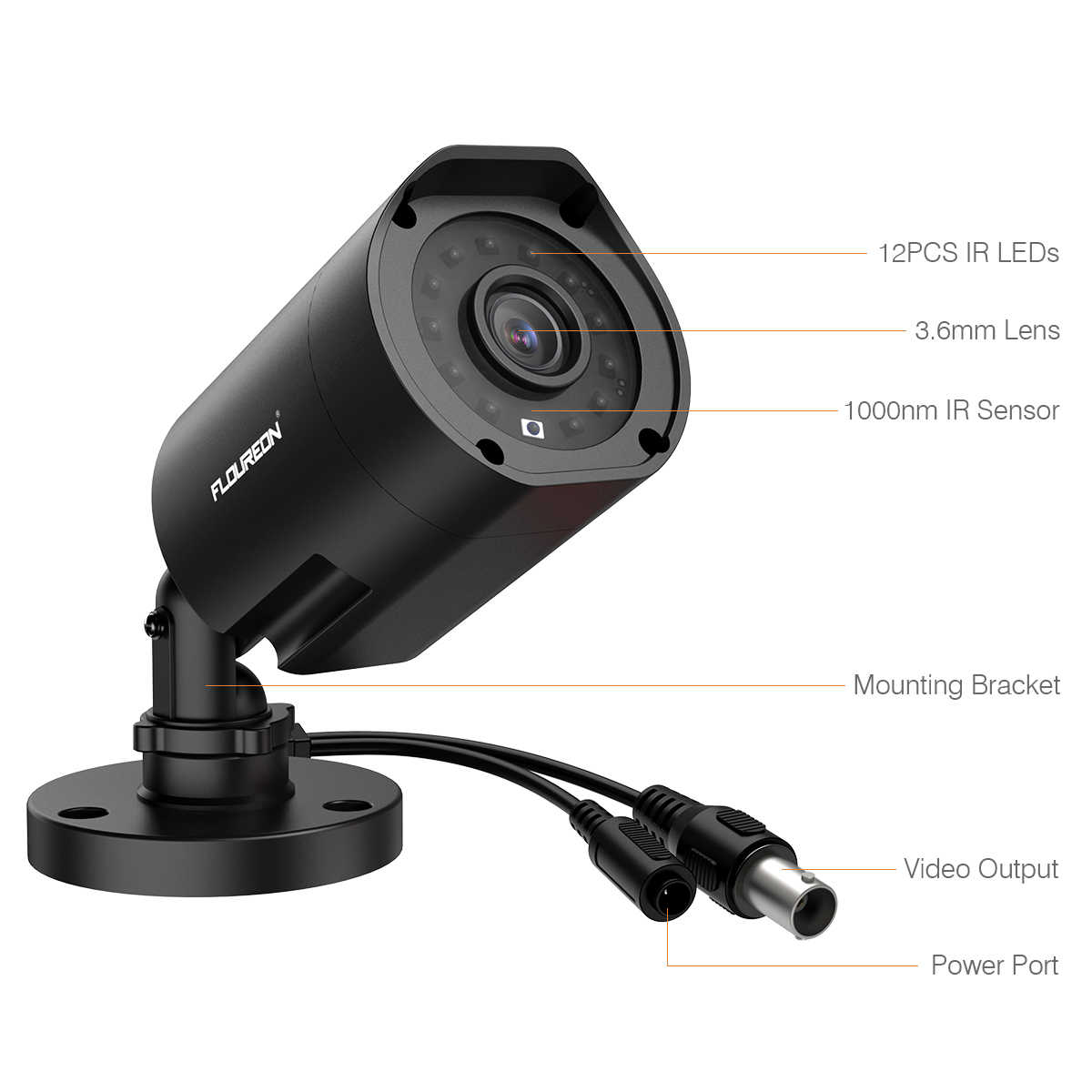 1080P 2MP 3000TVL CCTV Bullet IP66 Outdoor Home Security Camera IR Night Vision