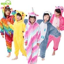 30249b3186 EOICIOI de franela de los niños conjunto de pijamas de invierno con capucha  Animal Pikachu puntada