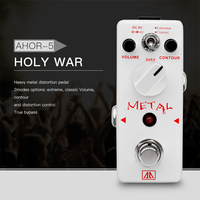 AROMA AHOR 5 Classic Heavy Metal Distortion Guitar Effect Pedal 2 Modes Aluminum Alloy Body True
