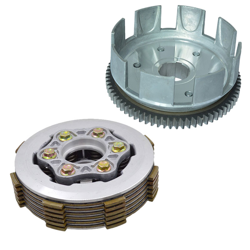 Motorcycle 6 Column Enhanced Clutch 6pcs Friction Disc Center Outer Clutch Assy for CG150 CG175 CG200 CG250 ATV Buggy