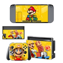 Game Super Mario Skin Sticker For Nintendo Switch NintendoSwitch Console Controller Vinyl Decal Skin Cover Protector Accessories