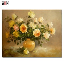 Frameless Picture Coloring By Numbers Abstract Oil Painting Drawing Unique Gift Yellow Flower Art