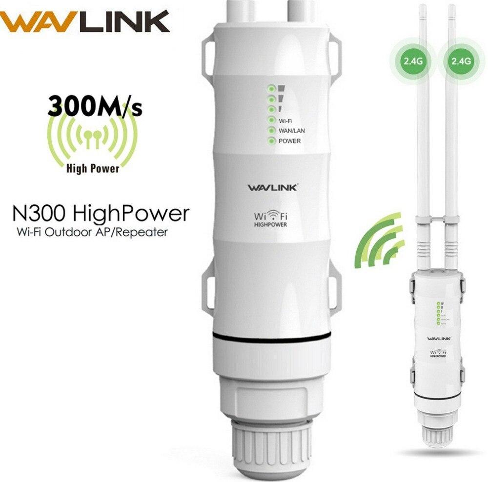 Wavlink intempéries 300 Mbps Haute Puissance Extérieure wifi Répéteur/CPE/Point D'accès/Range Extender 2.4 ghz Sans Fil wifi Routeur PoE