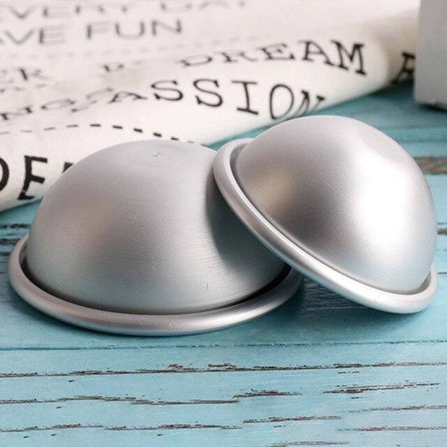 Mini Aluminum Alloy Shallow Semicircle Bath Bomb Salt Ball Metal Mold 3D Sphere Shape DIY Spa Tool Accessories 1PC 5.5*2.5cm