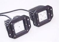 2pcs 12W Flush Mount LED Work Light Bar Rear Tail Backup Bumper Lamp Fog Light For