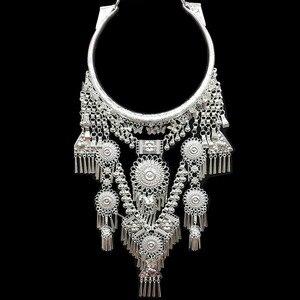 Image 3 - Kolye ve kolye Bohemia püsküller kolye Retro Yunnan etnik abartı Miao gümüş dans aksesuarları destek toptan