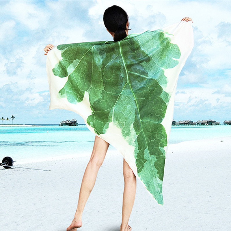 1 Piece Flannel Soft Plant  Ivy Leaf Blanket Plush Air Conditioning Blankets Throws Beach Towel Simulation 3D Design