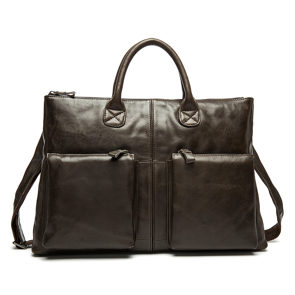 Genuine Leather Men Bag Bolso Hombre Vintage Leather Laptop Computer Bag Casual Leather Male Briefcase Bolso OrdenadorGenuine Leather Men Bag Bolso Hombre Vintage Leather Laptop Computer Bag Casual Leather Male Briefcase Bolso Ordenador