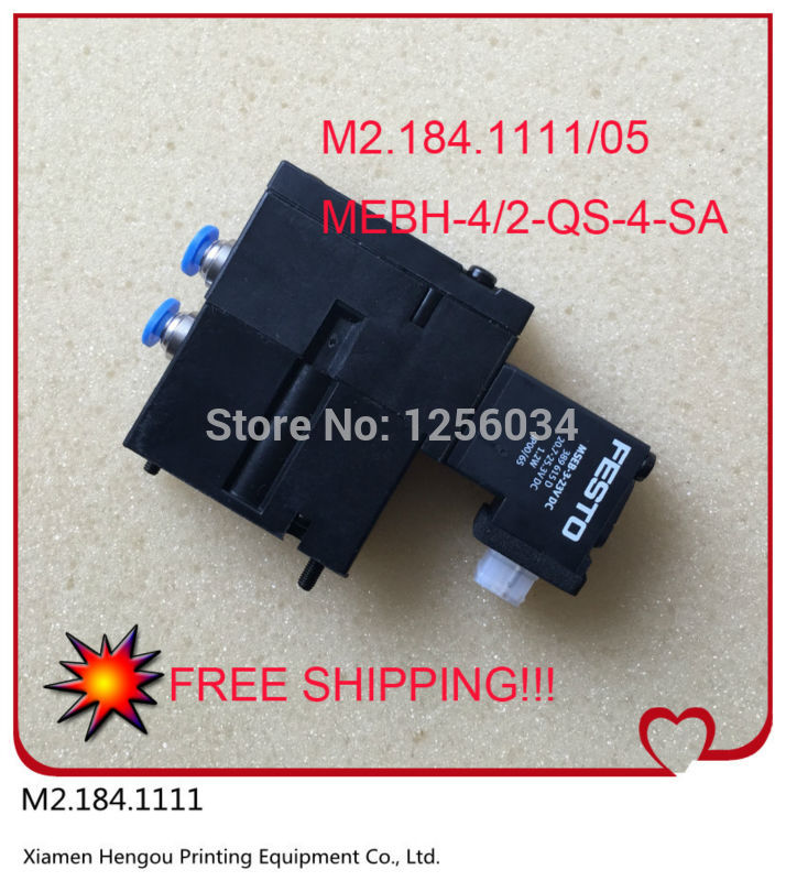 все цены на 50 pieces m2.184.1111 heidelberg printing valve original M2.184.1111/05, MEBH-4/2-QS-4-SA онлайн