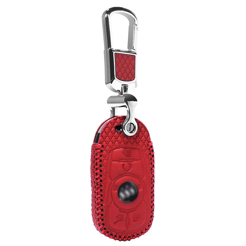 luckeasy leather key case for buick Lacrosse 20t/28t 2016 case wallet remote black red car key cover