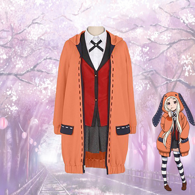 Anime Kakegurui Cosplay Figure Yomotsuki Runa Cosplay Costume JK School Girls Uniform Hoodie Halloween Dress For Women
