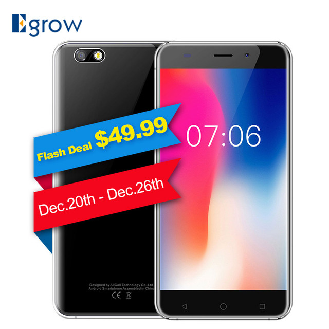 AllCall Madrid 3G Mobile Phone 5.5-Inch Android 7.0 MT6580A Quad-core 1GB RAM 8GB ROM 8MP+2MP Cameras 2600mAh Battery Smartphone