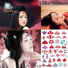 1 PCS Waterproof Tattoo Stickers Decals Printed The Forehead Fan Bingbing Wu Mei Niang Bindi Pattern SC2921
