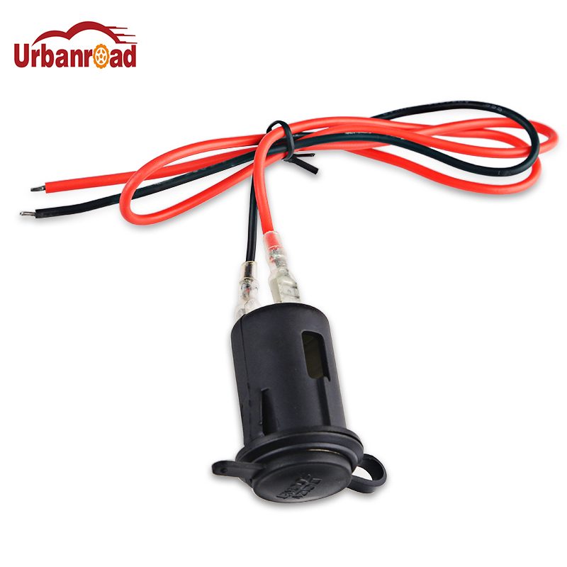 Urbanroad 12v 24v Waterproof Car Motorcycle Cigarette Lighter Power Motorcycle Boat Cigarette