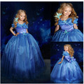 age 3-10 yrs 2016 princess dress Christmas costume Dresses girls dress Anna Elsa causal dress children clothing