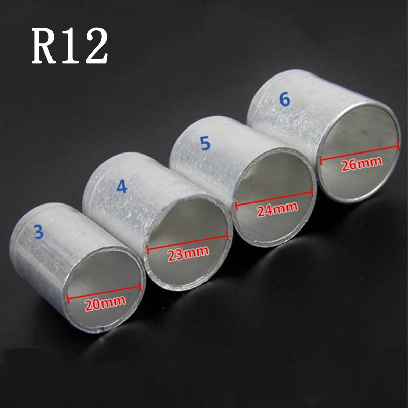 For Car A/C Air Conditioning Standard/Reduced Barrier Refrigerant Hose Aluminum Crimp Ferrule 100PCS 3/8 1/2 5/8 3/4