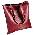 Mulheres do vintage Tote sacos de Ombro da Chegada Da Senhora de Couro PU Matagal Bolsa saco do Mensageiro Crossbody Sacos de Compras