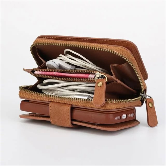 Multifunction Wallet Leather Case For Samsung S4/S5/S6/S7/S8/EDGE/NOTE4/NOTE5 Zipper Purse Pouch Phone Cases Lady Handbag Cover