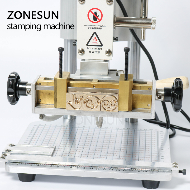 ZONESUN ZS110A własne logo maszyna stemplująca skóra brązujący maszyna do gniecenia maszyna stemplująca gorącą folią skórzane Embossor