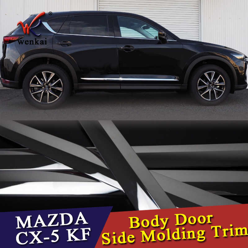 Stainless Door Side Body Molding Chrome Trim Cover For Mazda Cx-5 Cx5 2017 2018