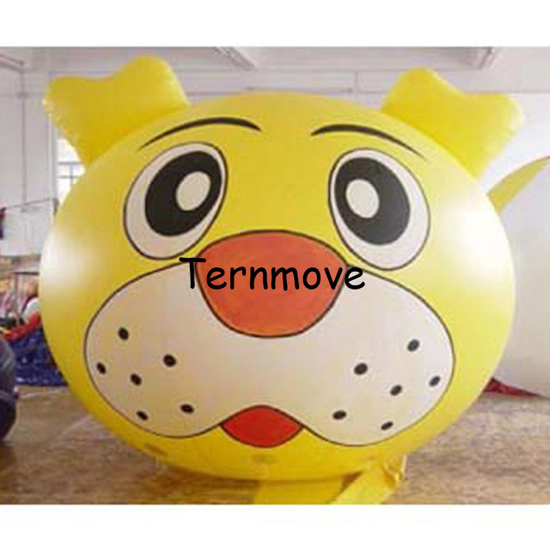 giant inflatable balloon PVC advertising inflatable animal head big cartoon inflatable cat tiger helium balloon стоимость