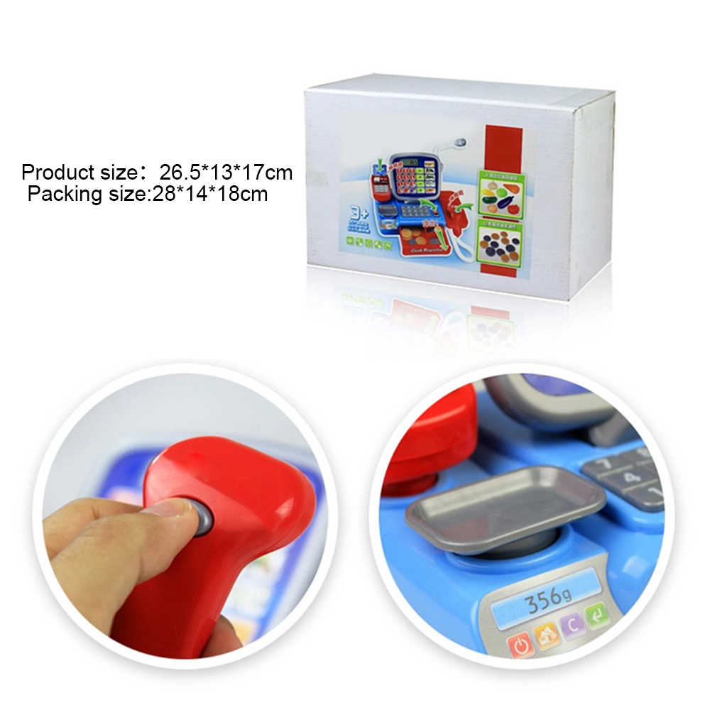Kid Gift Cash Register with Scanner Weighing Scale Electronic Educational Toy Pretend Play Toy For Kid