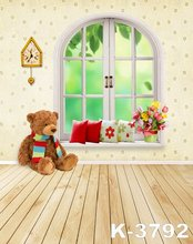5ft*7ft For Children Kids Baby Photograph Studio Art Photos Background Backdrops Cartoon Fantastic World Bear Wood Floor Stand