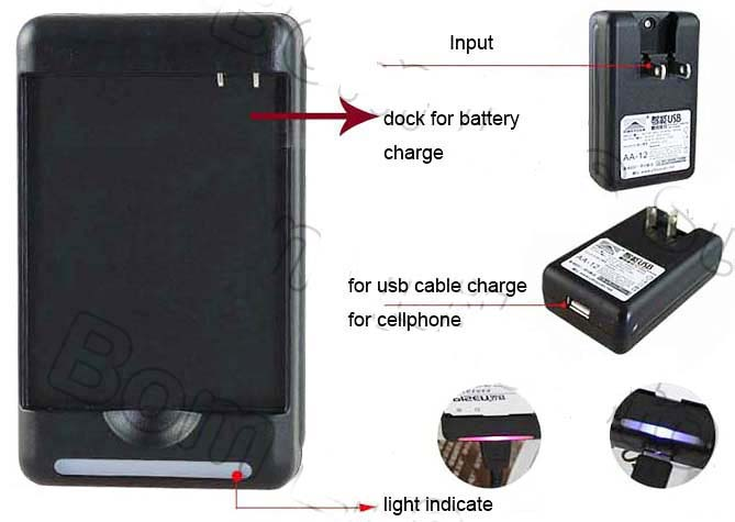 YIBOYUAN батареи док Зарядное устройство для bl-42d1f G5 Универсальный USB Выход Стиль стены Зарядное устройство для LG G5 H868 H860 f700k h850
