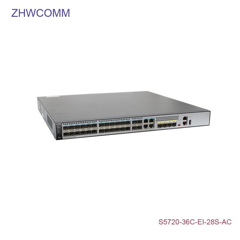 Fiber Optic Equipments Hua Wei S5720-36c-ei-28s-ac 10/100/1000mbps Next-generation Enhanced Gigabit Switches Supports 10 Gigabit Expansion