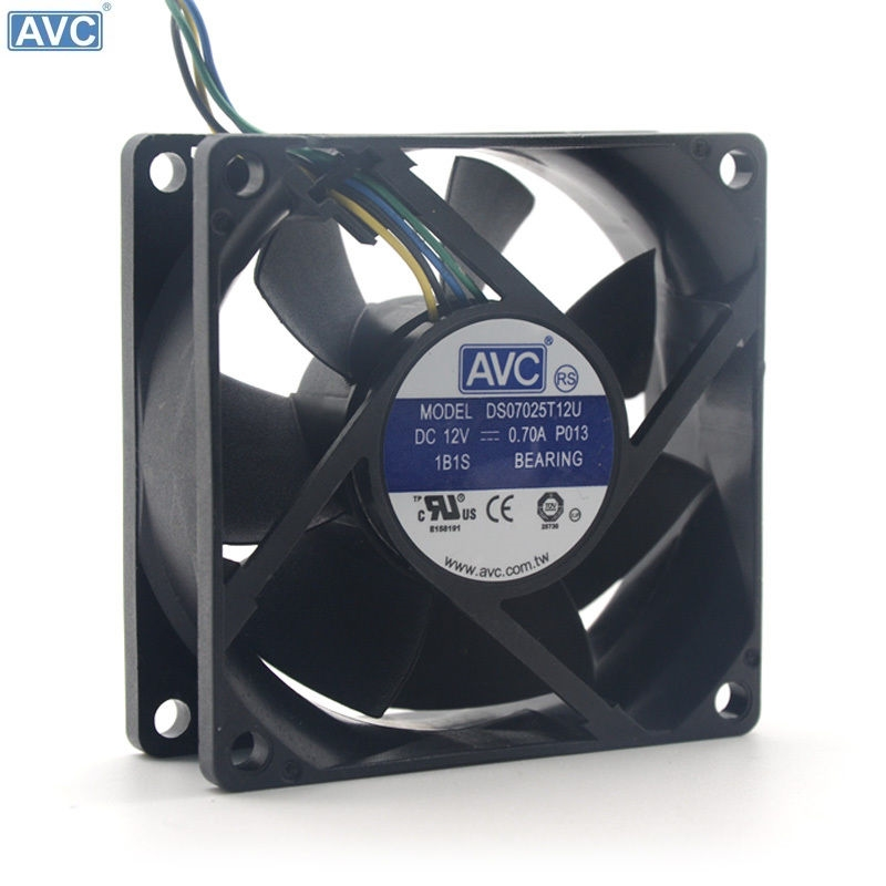 Wholesale For AVC DS08025T12UPFAF 8025 80mm 8cm DC 12V 0.7A PWM fan speed control of wind capacity cooling fans